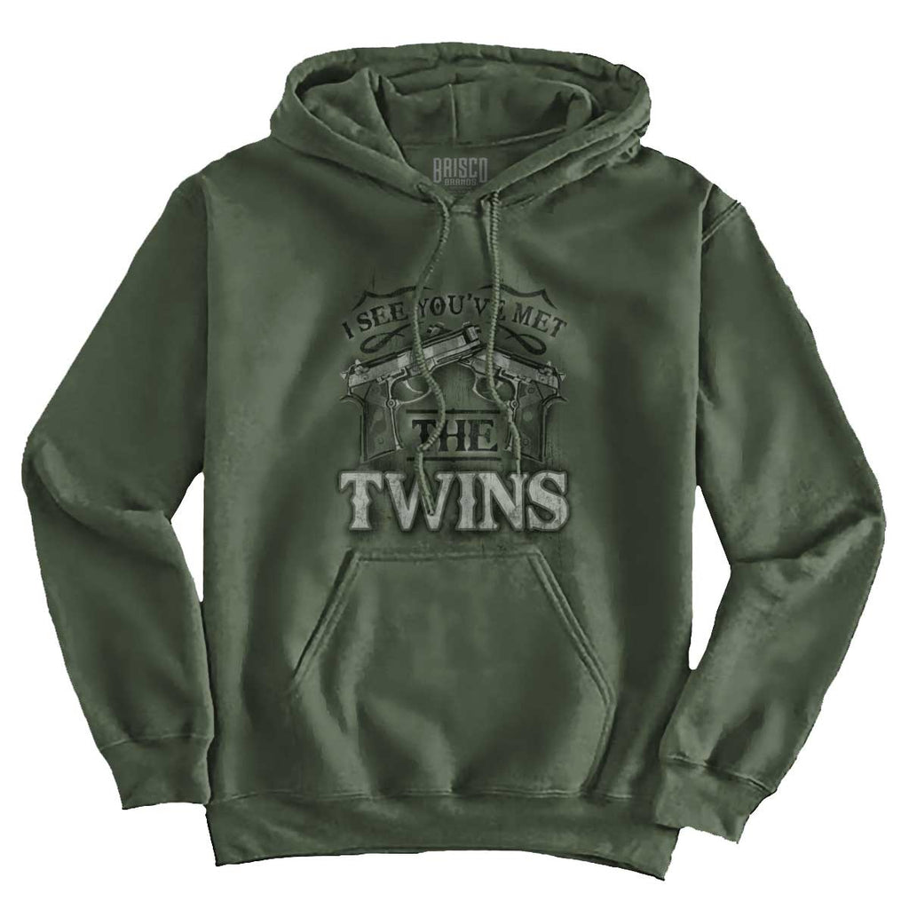 MilitaryGreen|I See Youve Met The Twins Hoodie|Tactical Tees