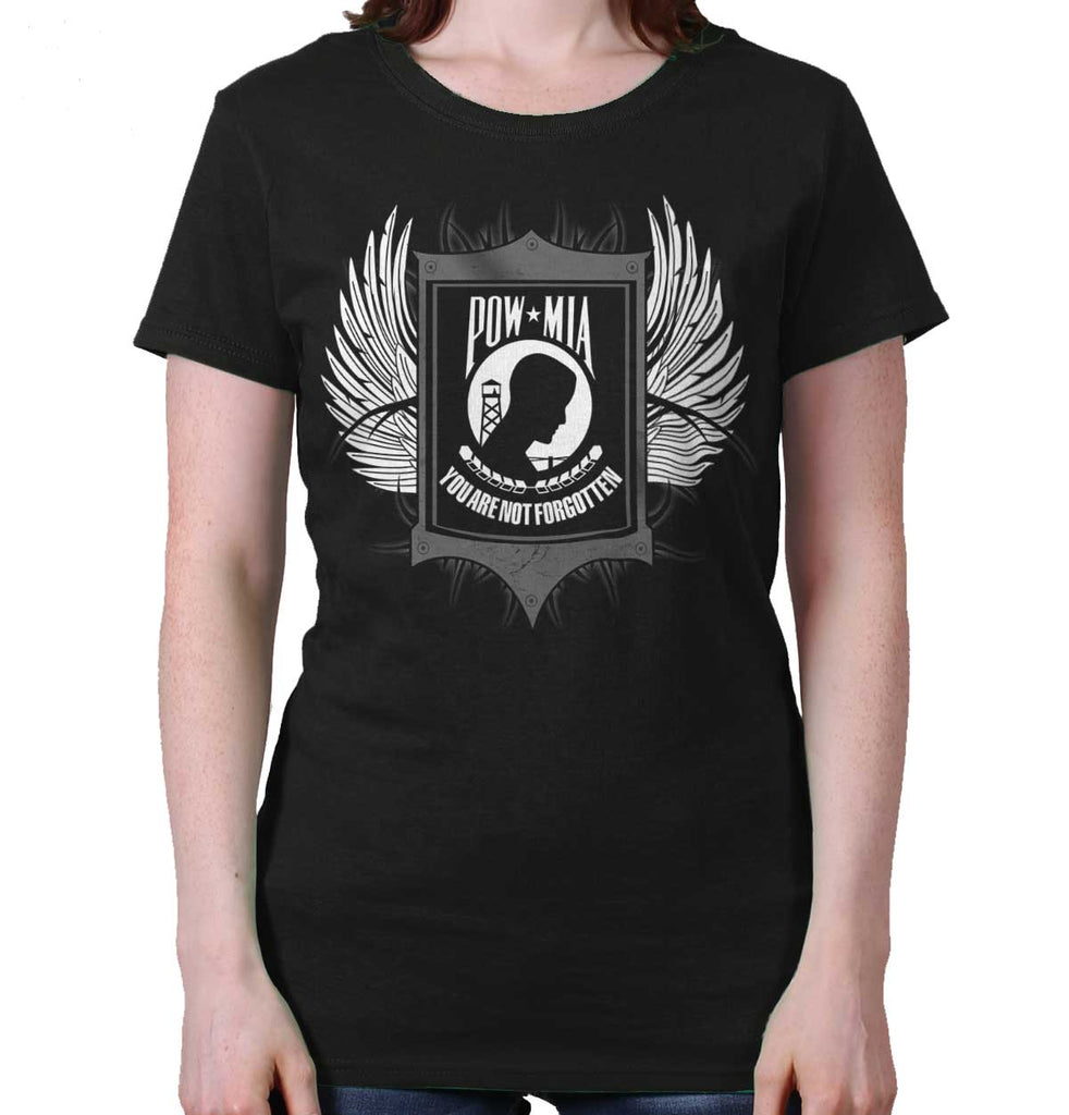 Black|POW MIA You Are Not Forgotten Ladies T-Shirt|Tactical Tees