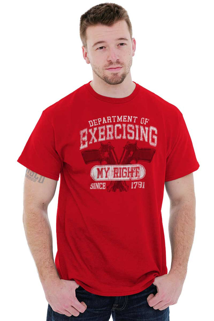 Male_Red1|DepartMalet of Exercising My Right T-Shirt|Tactical Tees