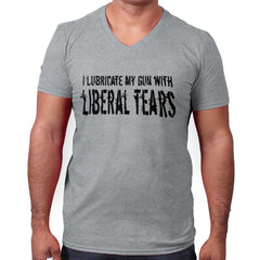 SportGrey|Liberal Tears V-Neck T-Shirt|Tactical Tees