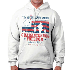 White|Guaranteeing Freedom Hoodie|Tactical Tees
