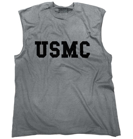 SportGrey|USMC Logo Sleeveless T-Shirt|Tactical Tees