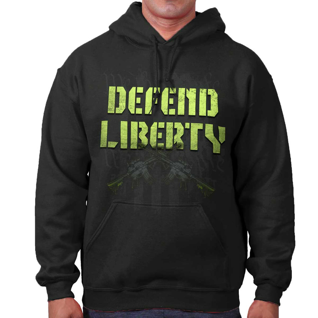 Black|Defend Liberty Hoodie|Tactical Tees