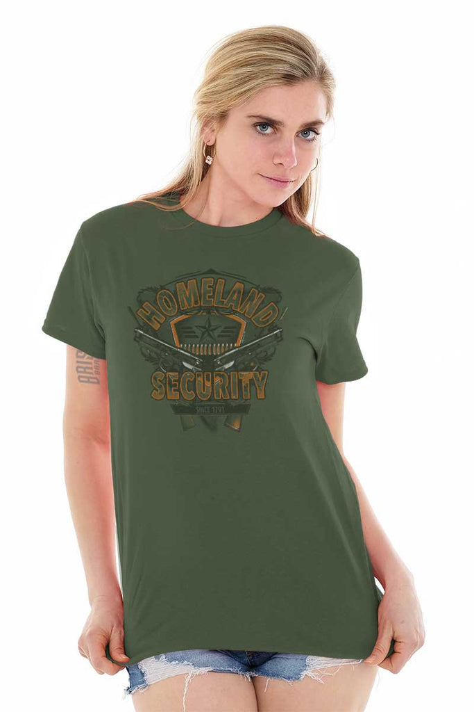 Male_MilitaryGreen1|Homeland Security T-Shirt|Tactical Tees