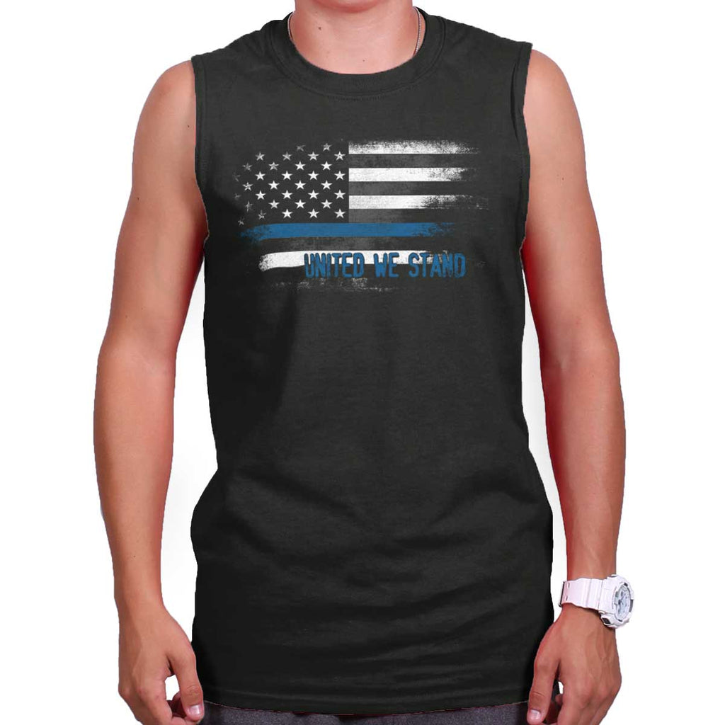 Black|Blue Lives Matter Fade Sleeveless T-Shirt|Tactical Tees