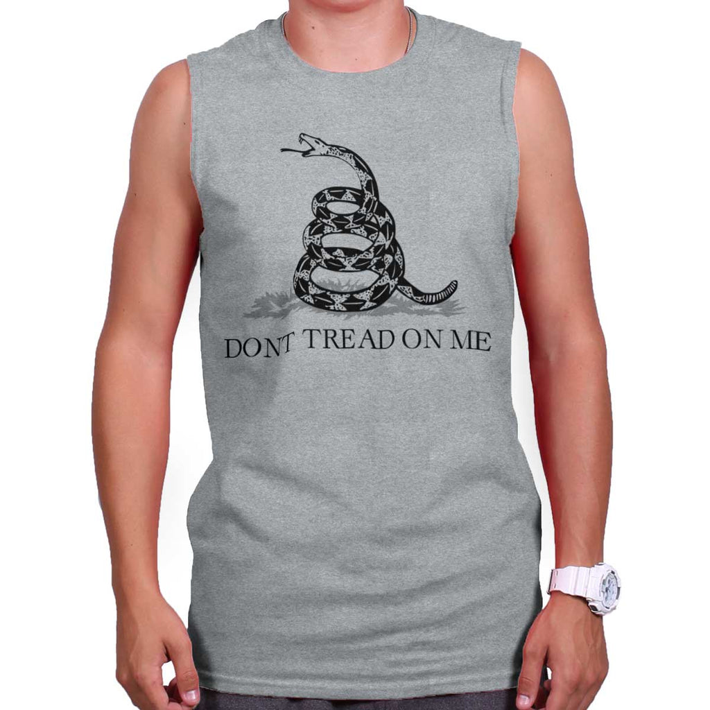 SportGrey|Don't Tread On Me Sleeveless T-Shirt|Tactical Tees