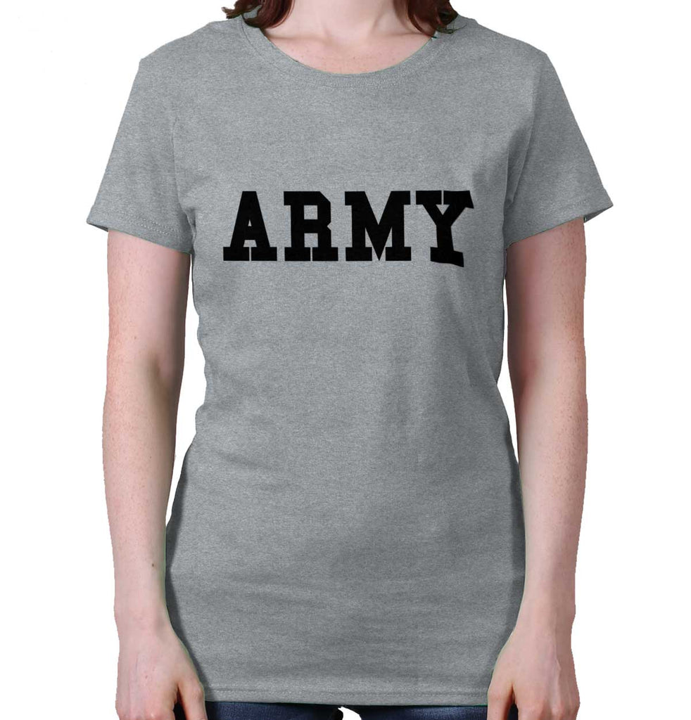 SportGrey|Army Logo Ladies T-Shirt|Tactical Tees