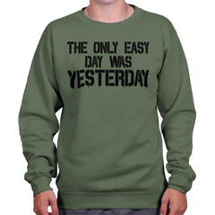 MilitaryGreen|Yesterday Crewneck Sweatshirt|Tactical Tees