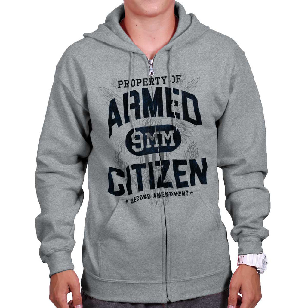 SportGrey|Armed Citizen Zip Hoodie|Tactical Tees