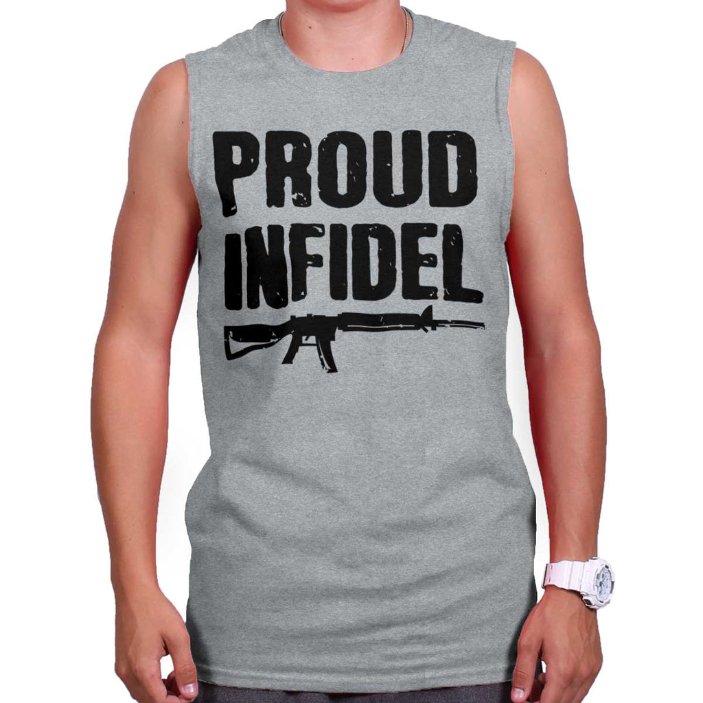 SportGrey|Proud Infidel Sleeveless T-Shirt|Tactical Tees
