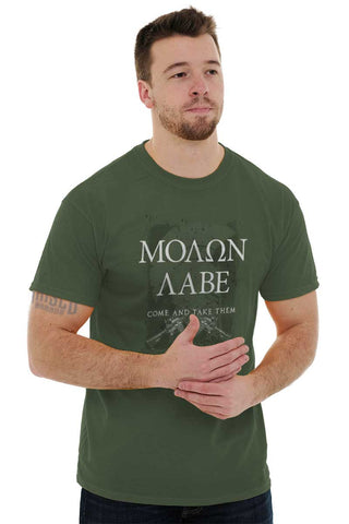 Male_MilitaryGreen1|Molon Labe T-Shirt|Tactical Tees