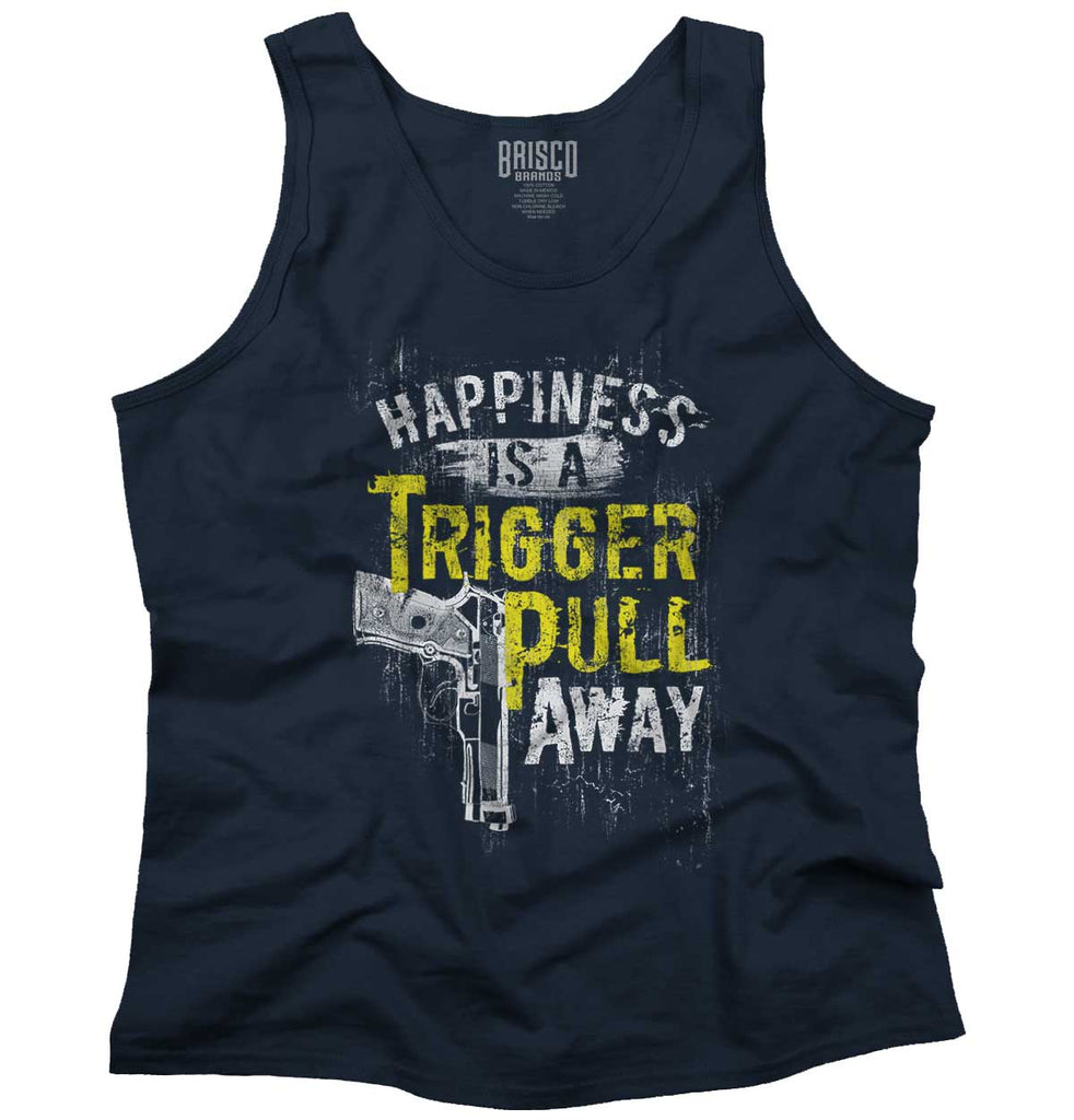 Navy|Happiness is A Trigger Pull Away Tank Top|Tactical Tees