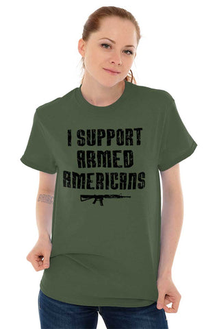 Male_MilitaryGreen1|Support Armed Americans T-Shirt|Tactical Tees