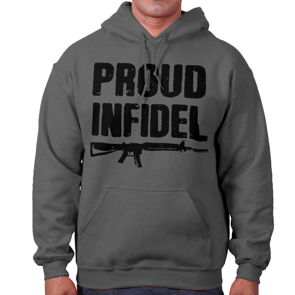 Charcoal|Proud Infidel Hoodie|Tactical Tees
