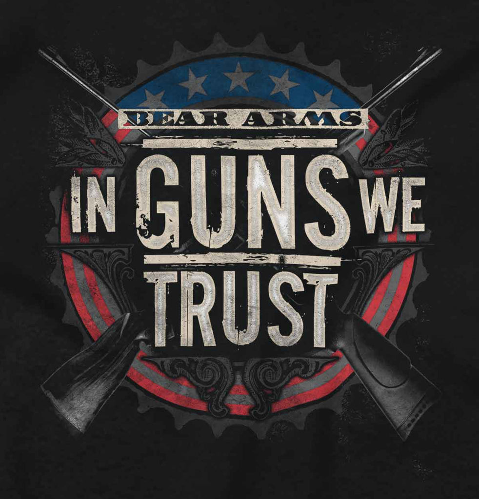 Black2|In Guns We Trust Tank Top|Tactical Tees