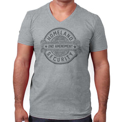 SportGrey|Homeland Security  AMaledMalet V-Neck T-Shirt|Tactical Tees