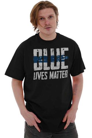 Male_Black1|Blue Lives Matter Line T-Shirt|Tactical Tees