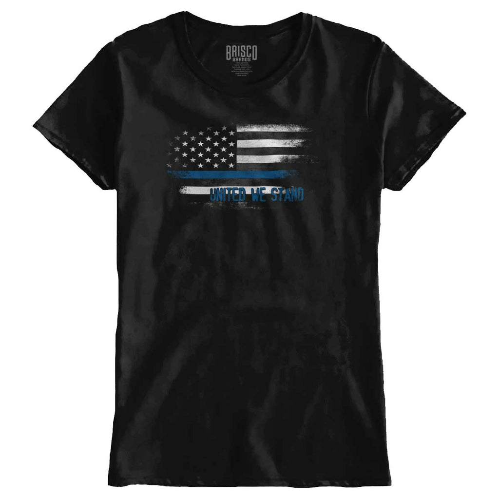 Black|Blue Lives Matter Fade Ladies T-Shirt|Tactical Tees