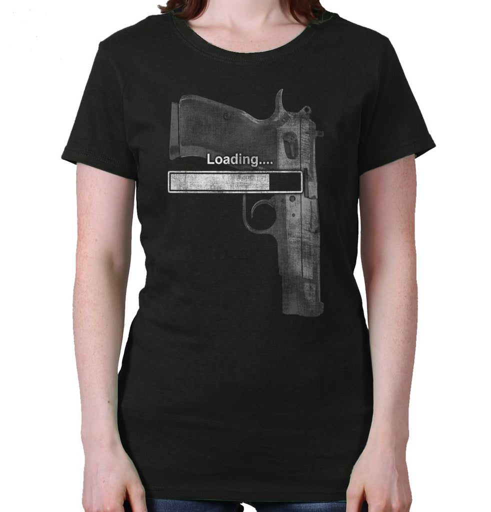 Black|Loading… Ladies T-Shirt|Tactical Tees