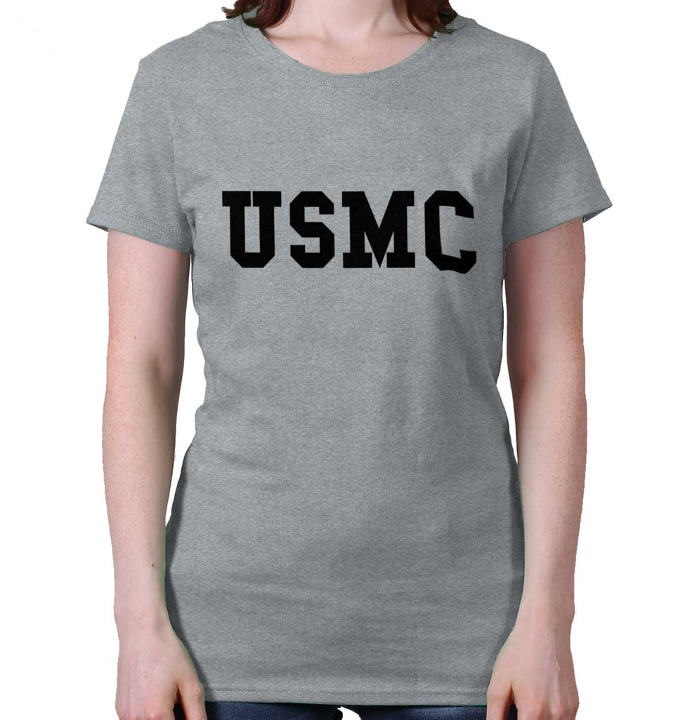 SportGrey|USMC Logo Ladies T-Shirt|Tactical Tees