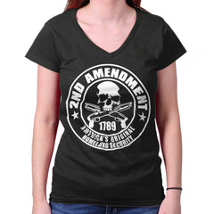 Black| Original Homeland Security Junior Fit V-Neck T-Shirt|Tactical Tees