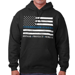 Black|Blue Lives Matter Honor Hoodie|Tactical Tees