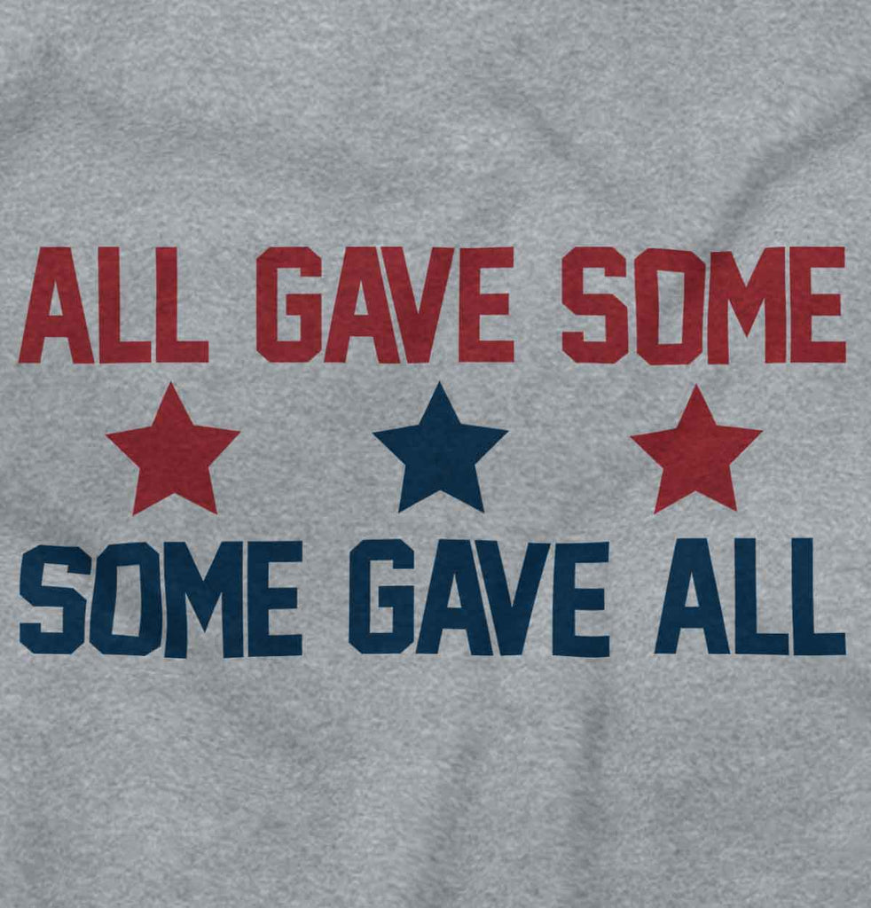 SportGrey2|Some Gave All Junior Fit V-Neck T-Shirt|Tactical Tees