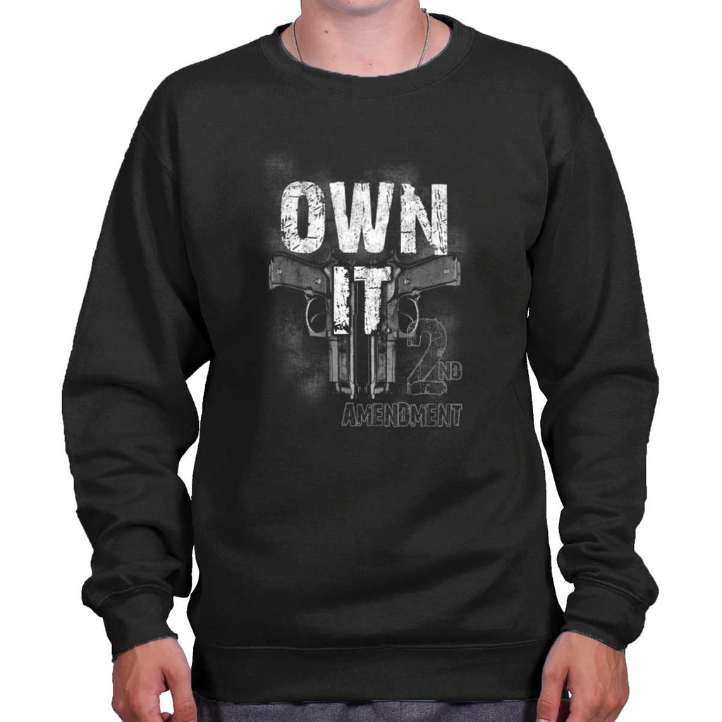 Black|Own It  AMaledMalet Crewneck Sweatshirt|Tactical Tees