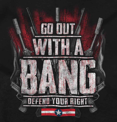 Black2|Go Out With A Bang Junior Fit V-Neck T-Shirt|Tactical Tees