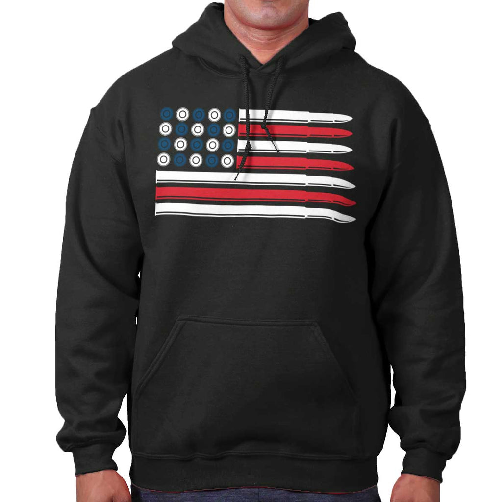 Black|Bullet Flag Hoodie|Tactical Tees