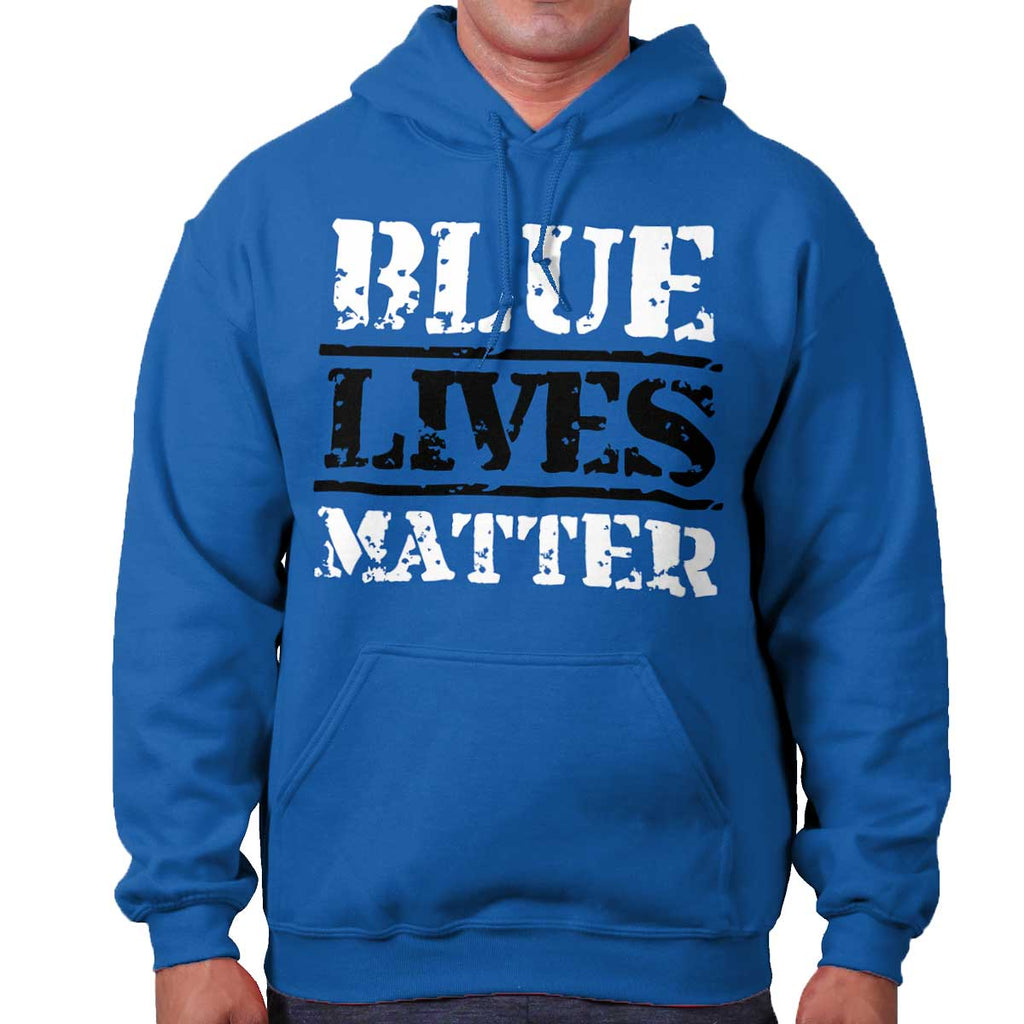 Royal|Blue Lives Matter Bold Hoodie|Tactical Tees