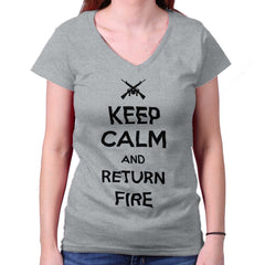 SportGrey|Return Fire Junior Fit V-Neck T-Shirt|Tactical Tees