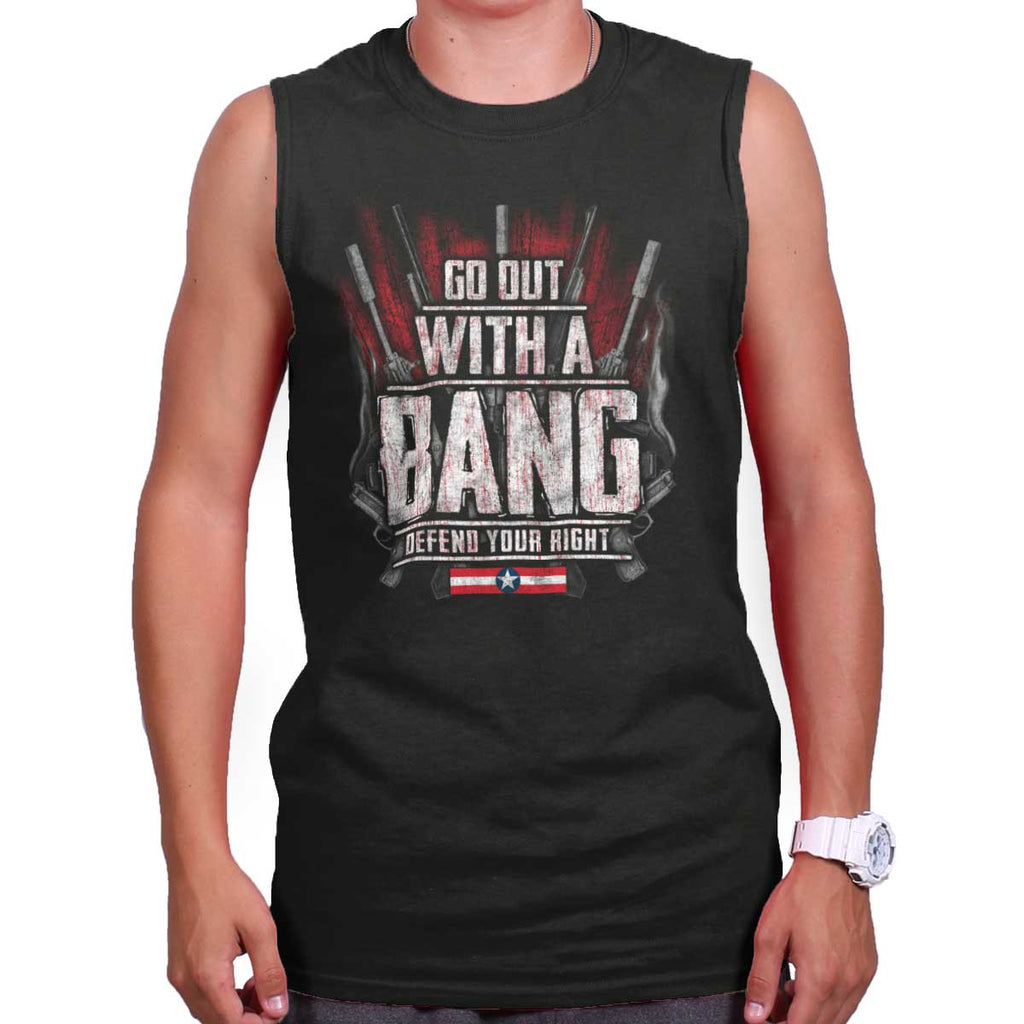 Black|Go Out With A Bang Sleeveless T-Shirt|Tactical Tees