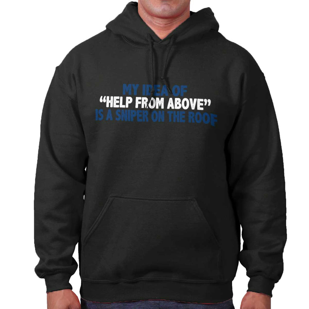 Black|Help From Above Hoodie|Tactical Tees