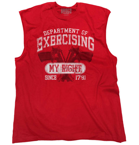 Red|DepartMalet of Exercising My Right Sleeveless T-Shirt|Tactical Tees