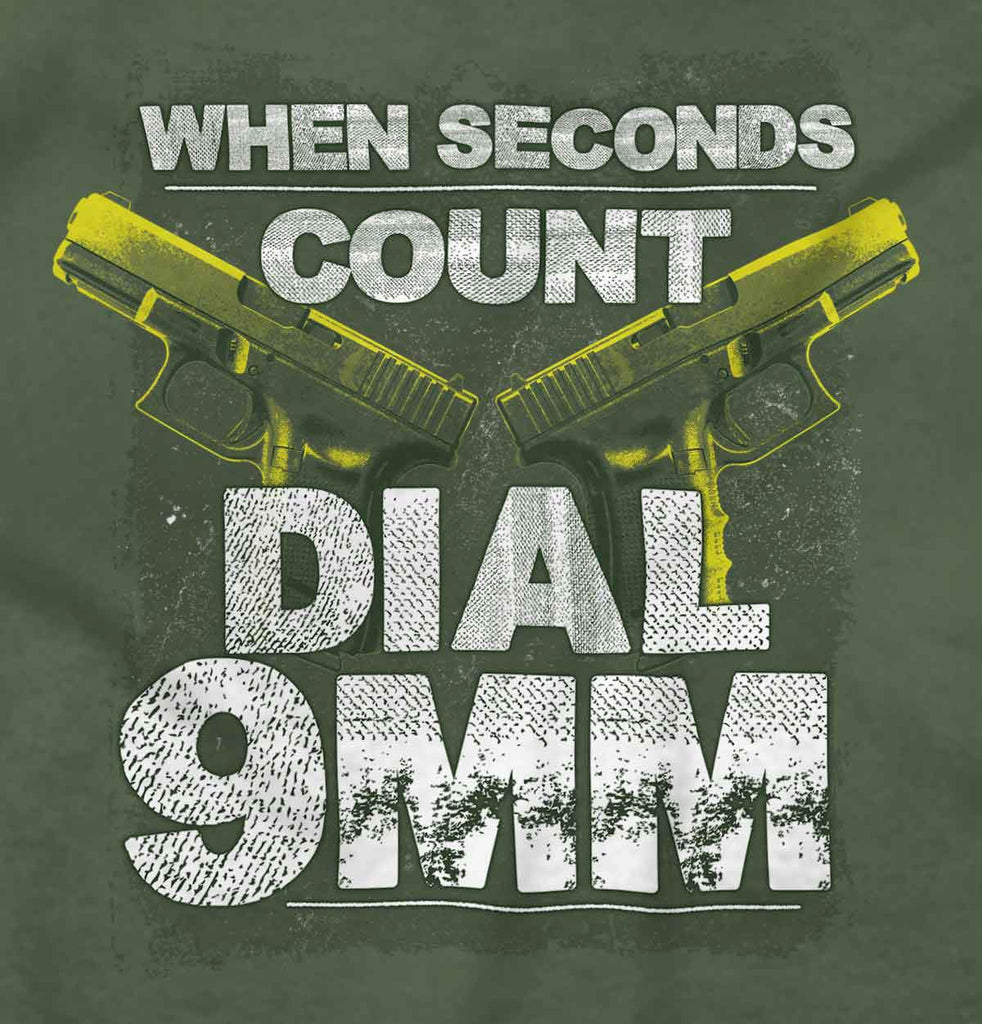 MilitaryGreen|Dial 9mm T-Shirt|Tactical Tees