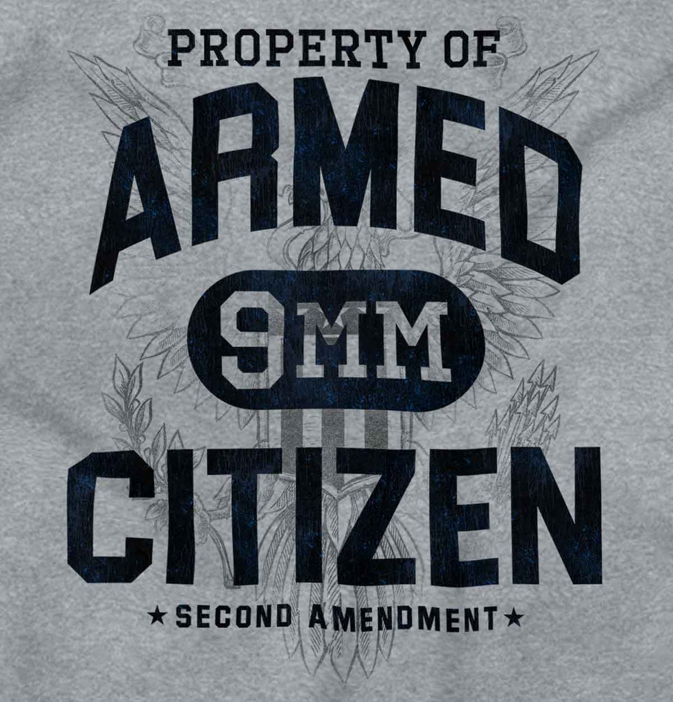 SportGrey2|Armed Citizen Junior Fit V-Neck T-Shirt|Tactical Tees