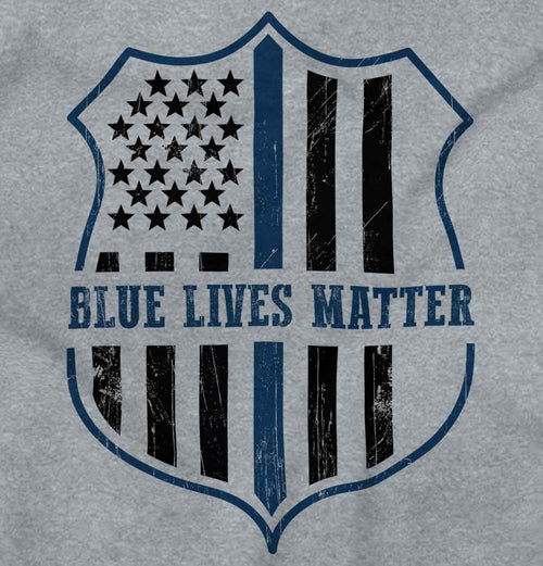 SportGrey2|Blue Lives Matter Flag Zip Hoodie|Tactical Tees