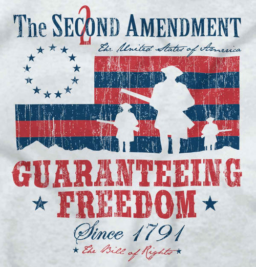 White|Guaranteeing Freedom T-Shirt|Tactical Tees