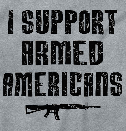 SportGrey2|Support Armed Americans Junior Fit V-Neck T-Shirt|Tactical Tees