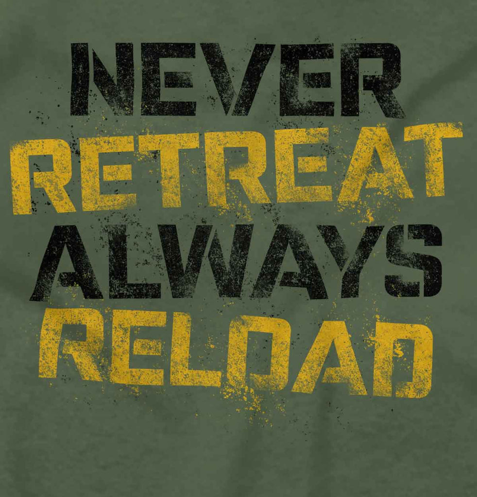 MilitaryGreen2|Never retreat Crewneck Sweatshirt|Tactical Tees