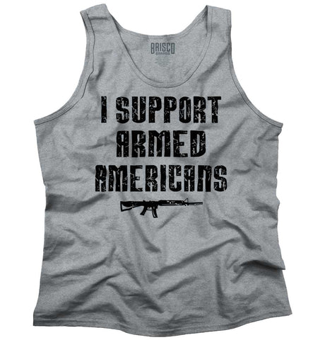 SportGrey|Support Armed Americans Tank Top|Tactical Tees