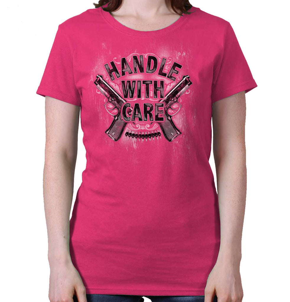 Heliconia|Handle With Care Ladies T-Shirt|Tactical Tees
