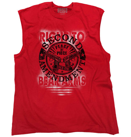 Red|Right To Bear Arms  AMaledMalet Sleeveless T-Shirt|Tactical Tees