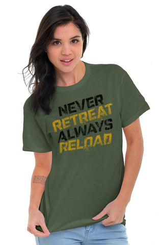 Male_MilitaryGreen1|Never retreat T-Shirt|Tactical Tees
