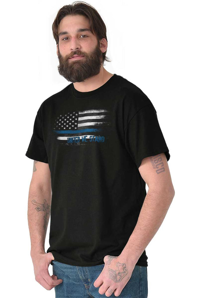 Male_Black2|Blue Lives Matter Fade T-Shirt|Tactical Tees
