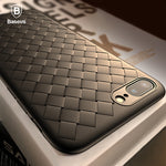 Creative Grid Silicone Case For iPhone