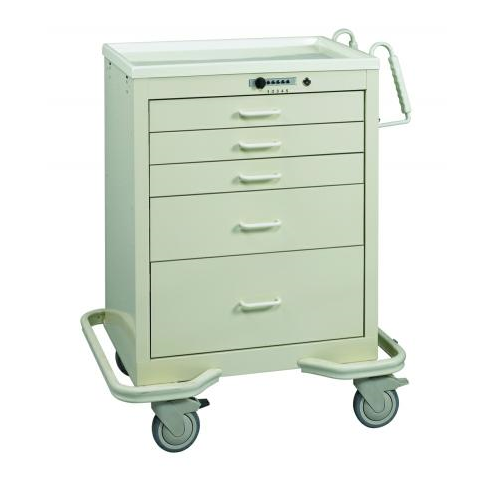 MPD Push Button Lock Anesthesia Cart - New