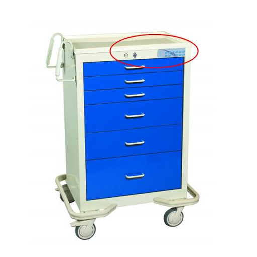 MPD Electronic Lock Anesthesia Cart