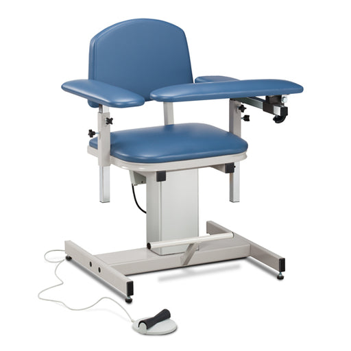 Clinton 6341 Power Series, Blood Drawing Chair with Padded Arms - New